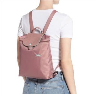 France Made Longchamp Backpack Antique Pink